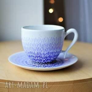 ciepliki filiżanka ceramiczna ombre fiolet z imieniem, filiżanka, ceramika