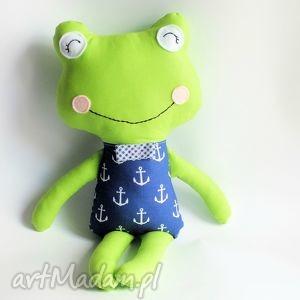 żabka - elegant marek 46 cm, żabka, marynarz, chłopczyk, dziewczynka, maskotka
