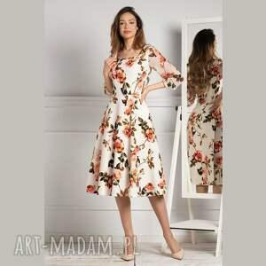sukienki sukienka emma total midi rosario, midi, romantyczna