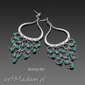 orient turquoise - oksydowane, orientalne, sztyfty, turkus, srebro