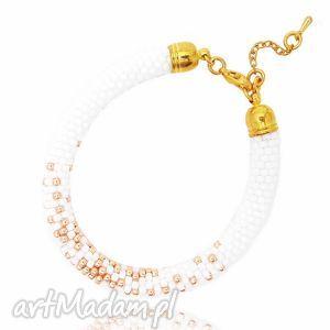 White Lady, bransoletka, beading, beadwork, beadcrochet, koralikowa