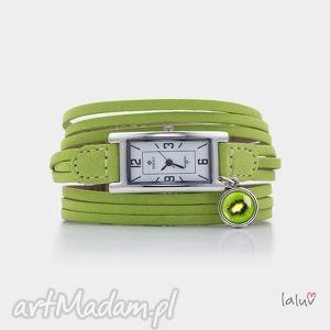 zegarek na skórzanej bransolecie kiwi, tropikalne, owoc, prezent, grafika, czas