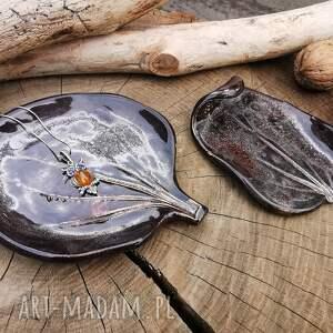 shiraja komplet ceramicznych liści c362, ceramika, podstawki, na biżuterię