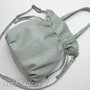hobo sack - sakiewka tkanina miętowa, elegancka, nowoczesna, prezent, worek
