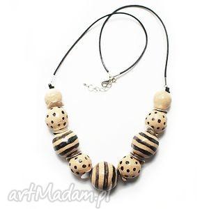 ceramiczne korale, naszyjnik, ceramika - biżuteria, korale, naszyjnik, wisior