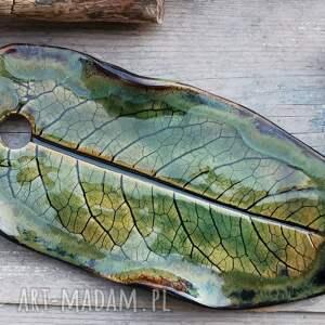 handmade ceramika ceramiczna zawieszka liść (c248)