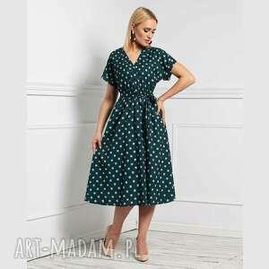 sukienka saly total midi romina grochy duże, w grochy