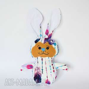 Królik torebkowy - Marta, królik, boho, dziecko, dziewczynka, maskotka, przytulanka