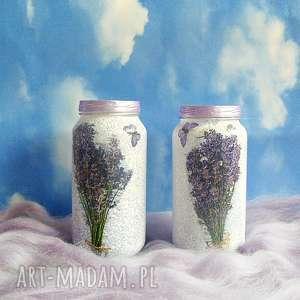 lawenda szklane słoiczki w stylu prowansalskim, lawenda, prowansalski, fiolet