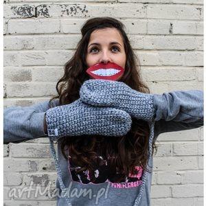 rękawiczki mode 11 - rękawiczki, dwupalczaste, braininside, zima, handmade