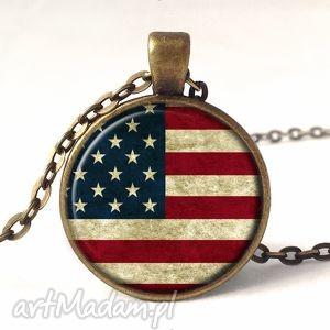 egginegg flaga usa - medalion z łańcuszkiem - amerykańska