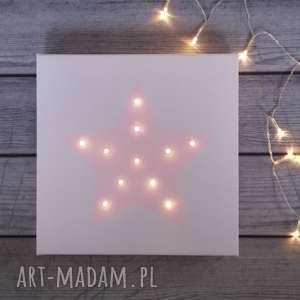 ŚwiecĄcy obraz gwiazda prezent lampka dekoracja świąteczna - gwiazda