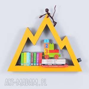 Półka na książki zabawki GÓRY ecoono | żółty, półka, chłopiec, dziewczynka, organi