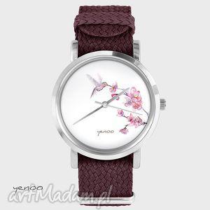 Prezent Zegarek, bransoletka - Koliber bordowy, zegarek, bransoletka, nato