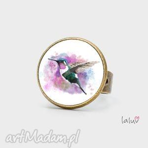 pierścionek koliber, regulowany, ptak, koliberek, wakacje, podróż, kwiat