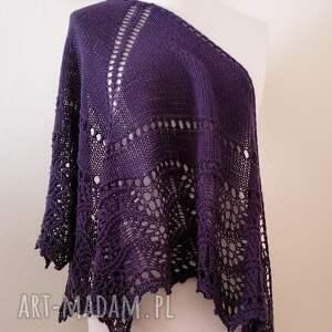 chustki i apaszki przemiła 100 wełna merino, rękodzieło, chusta na drutach