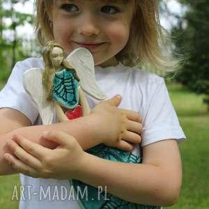 hand made dla dziecka wiszący wesoły aniołek dziecka, chrzest