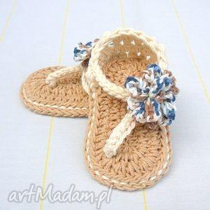 buciki sandałki casablanca, bawełna, lato, dziewczynka, buciki, prezent, babyshower