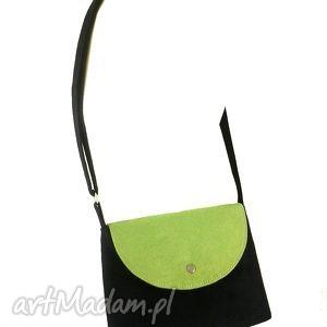 Trip lime & black - ,torebka,listonoszka,wakacyjna,wygodna,lekka,