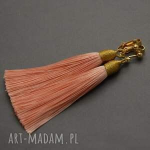 prezent na święta, klipsy z chwostami, sznurek, wyjściowe, długie, eleganckie