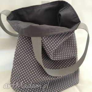 torebki lunchbag by wkml klasyka na szaro, śniadaniówka, śniadanie, lunch, eko-torba
