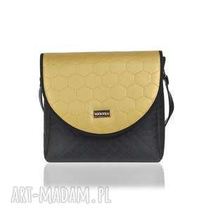 torebka z wymiennymi klapkami puro classic 2570 golden honeycomb
