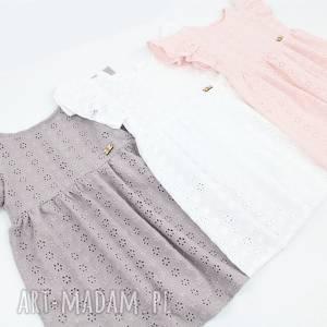 letnia sukienka z haftowanej bawelny, letnia, haftowana, zwiewna