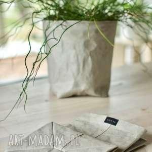 handmade dekoracje osłonka na doniczkę z washpapa