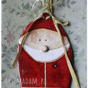 pomysł na upominki Mikołaj, ceramika, mikołaj