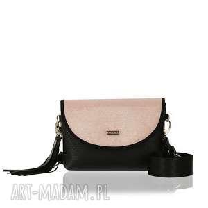 ręczne wykonanie torebki torebka puro smart 2417 pink shimmer