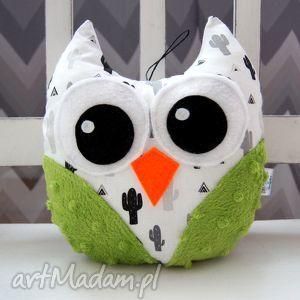 handmade święta prezent mini sowa - maskotka przytulanka