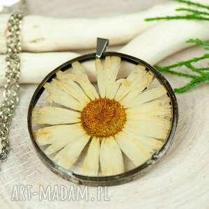 Naszyjnik z kwiatów w cynowej ramce z419 naszyjniki herbarium