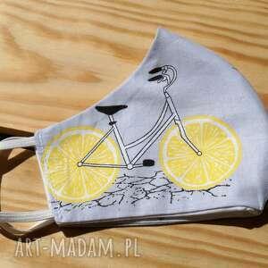 bawełniana maseczka damska, maseczka, maska, rowery, wzorzysta, eko