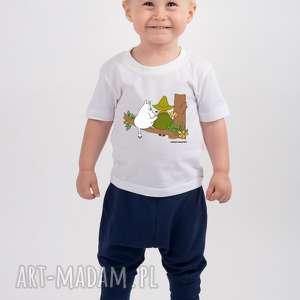 tailormade licencjonowana koszulka dziecięca muminki muminek i włóczykij