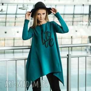 horn bluzka dresowa, sukienka, tunika, bluza, bawełna, nadruk