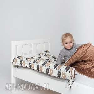 Ochraniacz do łóżeczka/łóżka IKEA - b. misie, ochraniacz, ikea, minky, pościel