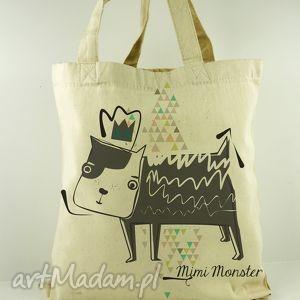na ramię torba dogi - płócienna, prezent, eco, dzień, dziecka, matki, uszy