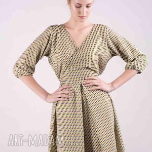 sukienki sukienka kopertowa - czuję się świetnie, sukienka, bluzki, spodnie