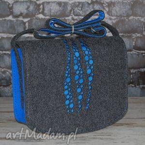 hand-made na ramię filcowa torba 15 personalizowana, grawer