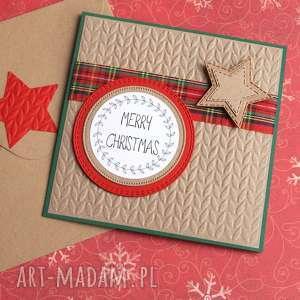 Święta upominki? Kartka świąteczna:: red & green kartki kaktusia