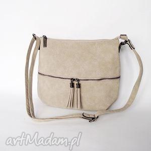 effbce9aa7b8c Handmade torba na ramię torebkawyprzedano torebka listonoszka kremowa