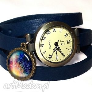 orient - zegarek bransoletka na skórzanym pasku egginegg - zawieszką