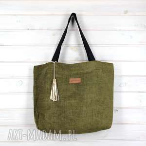 e87eaaba1d5c9 na ramię amelia zielona torebka shopperka pojemna