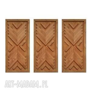 obraz z drewna, dekoracja ścienna tryptyk /2/