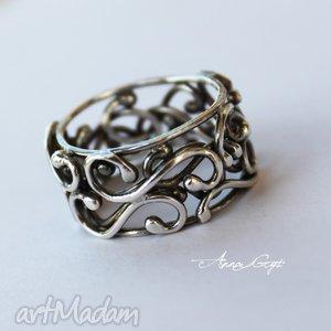 zakręcona - obrączka, srebro