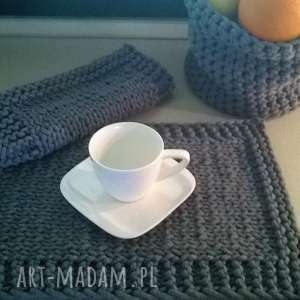 podkładki elegancka podkładka ze sznurka bawełnianego, ręcznie zrobione