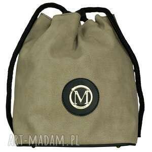 MANZANA Plecak-worek luźny styl OLIWKOWY, manzana, plecak, worek, luźny,