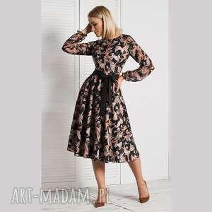 sukienki sukienka roma midi fatima, orient, wzory, we wzorzysta