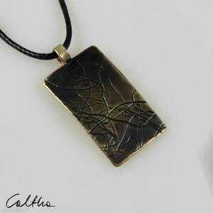 caltha nitki - mosiężny wisiorek 202115-01, wisiorek, wisior