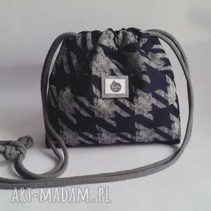 Mała torebka wodoodporna - pepita & denim mini tasha handmade torebka, mała, worek,